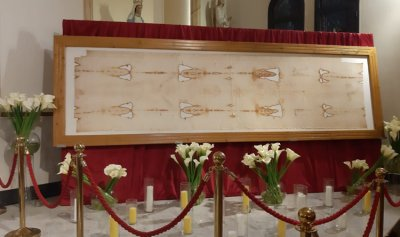 النسخة الاصلية لكفن المسيح في لبنان