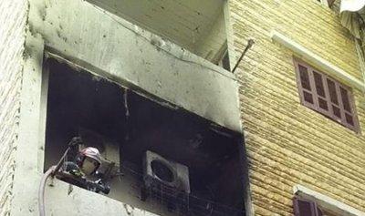 حريق شقة في النيو روضة