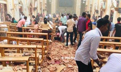 بالفيديو: لحظة الانفجار الدامي لكنيسة في سريلانكا