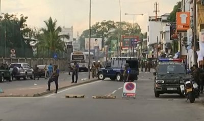 بالفيديو: انفجار جديد قرب إحدى الكنائس في سريلانكا