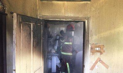 اخماد حريق داخل منزل في حمانا