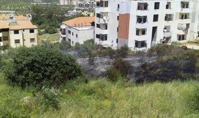 حريق اعشاب واشجار في برسا