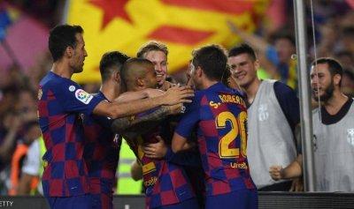 فوز كبير لبرشلونة وإنجاز لغريزمان