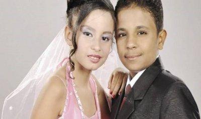 بالصور: زواج أصغر عروسين في مصر