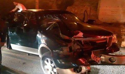 بالصورة: ربيع الجميل ينجو من حادث سير في الأردن