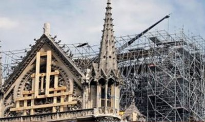 أول قداس في كاتدرائية نوتردام بعد الحريق