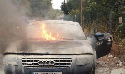 حريق داخل سيارة في حاريصا