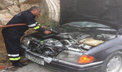 حريق داخل سيارة في عاليه