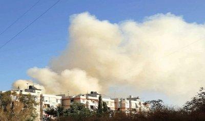 بالفيديو: حريق ضخم يلتهم محلات تجارية في الشويفات
