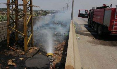 حريق في عرمان