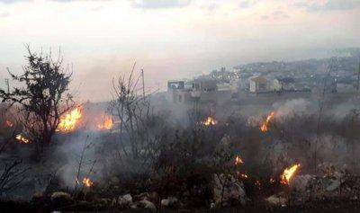 بالصور: حريق في اده