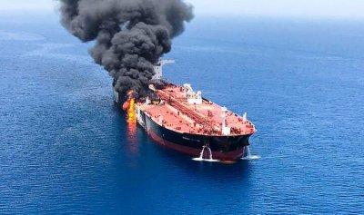 ناقلة النفط اليابانية في مياه الإمارات بعد هجوم خليج عمان