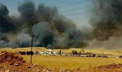 استنفار بعد اندلاع حريق بمواد سامة في العراق