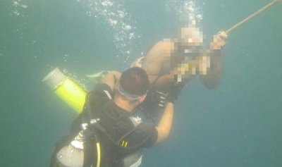 انقاذ مواطن في بحر الجية