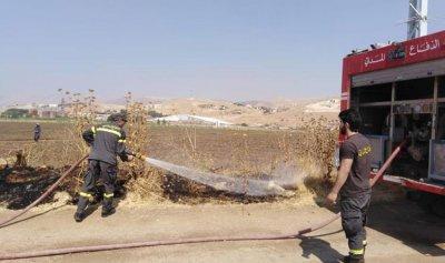 حريق في مجدل عنجر