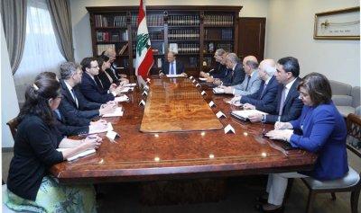 عون للوفد الاميركي: نطلب من الأمم المتحدة تسهيل عودة السوريين