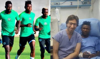حقيقة إصابة لاعب نيجيريا بأزمة قلبية