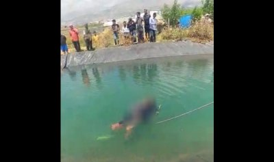 انتشال جثة فتى غريق في بركة تربل البقاعية