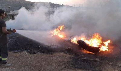 بالصور: حريق في المعروفية