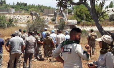 ورشة أعمال للقوات الاسرائيلية على الحدود