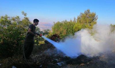 بالصورة: حريق في بيصور – عاليه