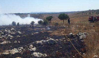 بالصور: حريق في ديرسريان