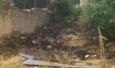 بالصورة: حريق في اهمج