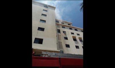 اصابتان جراء حريق في الكورة