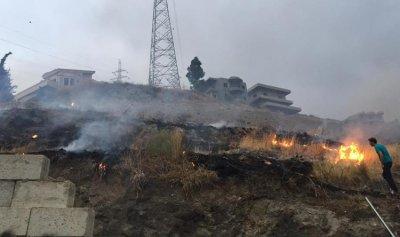 بالصور: حريق في كوشا – عكار
