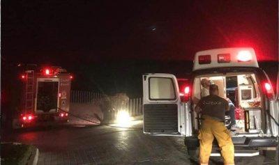 اصابة مواطن في حريق داخل مطعم في قرطبون