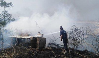 بالصور: حريق في المنصف