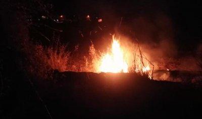 بالصورة: حريق في بر الياس