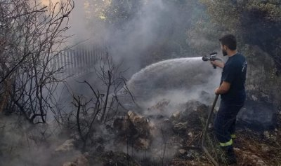 بالصور: حريق في يحشوش