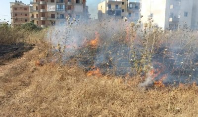 بالصور: حريق في مجدليا