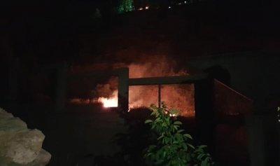 بالصورة: حريق في شبروح