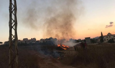 بالصورة: حريق في كفرتبنيت