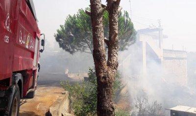 بالصور: حريق في القليعة