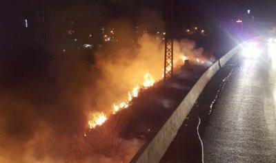 بالصور: حريق في طبرجا