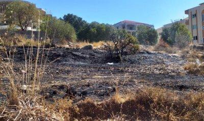بالصورة: حريق في بقعاتا