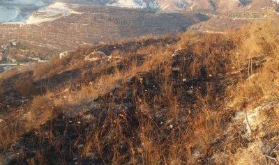 بالصورة: حريق في كفرحزيز