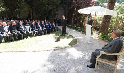 عون امام وفد برئاسة عدوان: نعمل للخروج من الازمة الاقتصادية