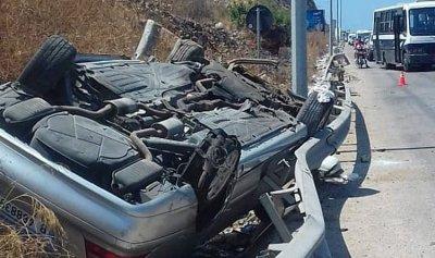 بالصورة: حادث سير مروع في السعديات