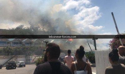 بالفيديو والصور: حريق ضخم في C Flow