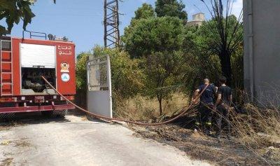 بالصورة: حريق في شكا