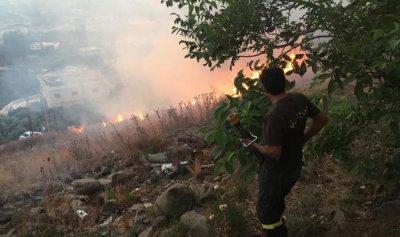 حريق التهم اشجاراً مثمرة واعشاباً يابسة في عكار