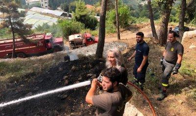 بالصورة: حريق في غبالة – كسروان