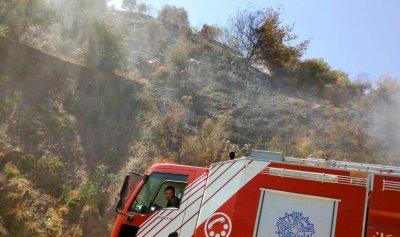 حريق أعشاب واشجار في خريبة الجندي