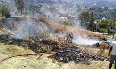 بالصورة: حريق في حملايا