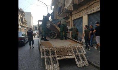 مصادرة بسطات وعربات مخالفة في طرابلس