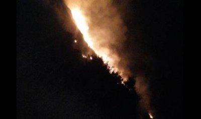 حريق كبير في بلدة كوسبا